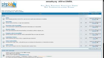 Captura de pantalla de la página de AVENes en 2006