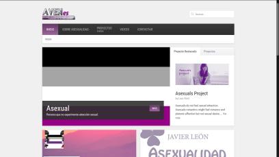 Captura de pantalla de la página de inicio de AVENes en 2014