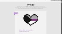 Captura de pantalla del Tumblr de AVENes en 2016