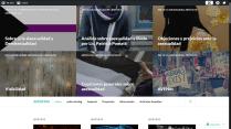 Captura de pantalla del Wordpress de AVENes en 2016
