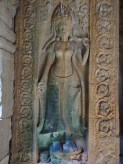 Apsara with blue feet
