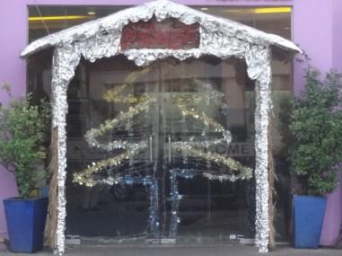 christmas restaurant entrance
