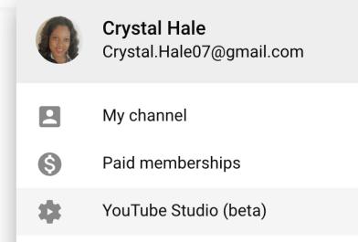 You Tube Creator studio 2