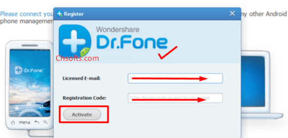 serial key wondershare dr.fone for android