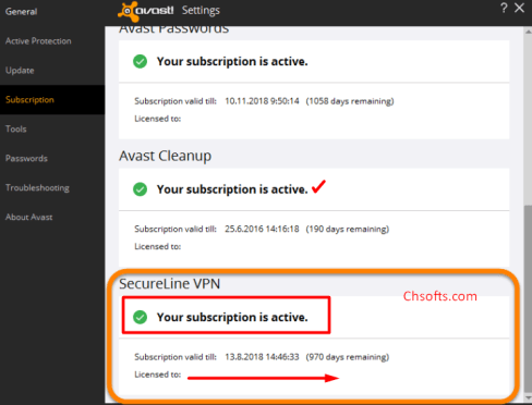 avast license key vpn