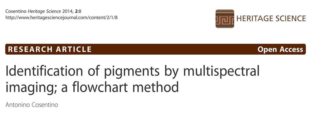multispectral imaging pigments flowchart