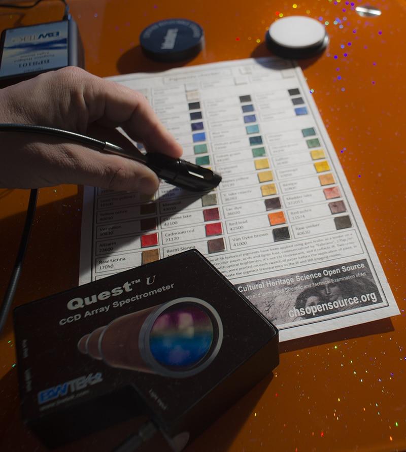 reflectance spectroscopy pigments FORS