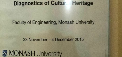 Monash University Diagnostics for Cultural Heritage