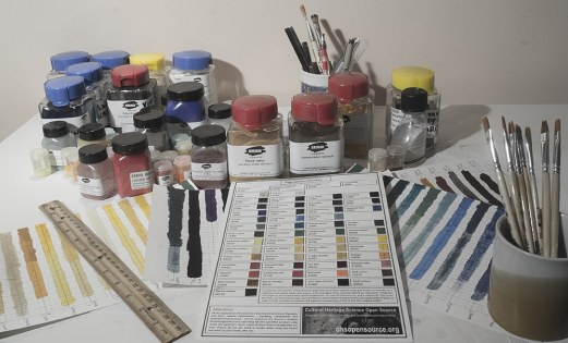 Pigments checker is used to test new equipment.