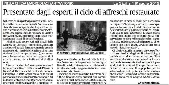 La Sicilia 1 Maggio 2015