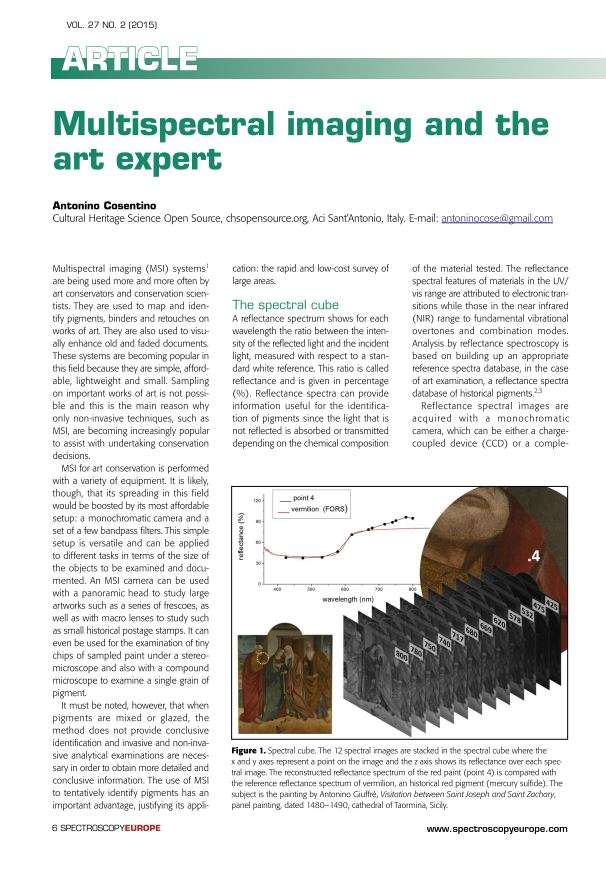 Multispectral Imaging and the Art Expert Cosentino
