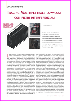 Imaging Multispettrale low-cost con filtri interferenziali