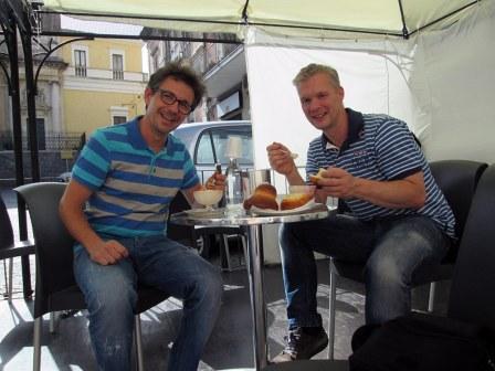"""Almond """"Granita"""" in piazza San Domenico, Acireale"""