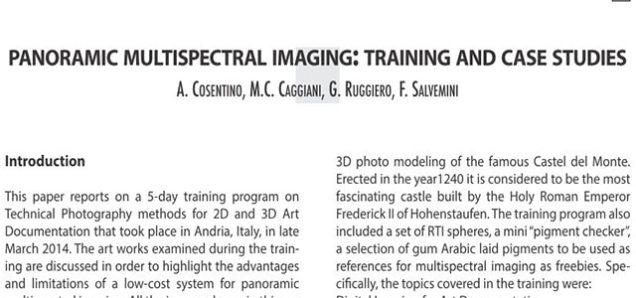 multispectral imaging taining program