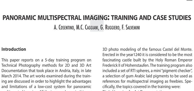 multispectral imaging taining program