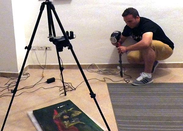 Low-cost Methods for art examination Summer Training 2016