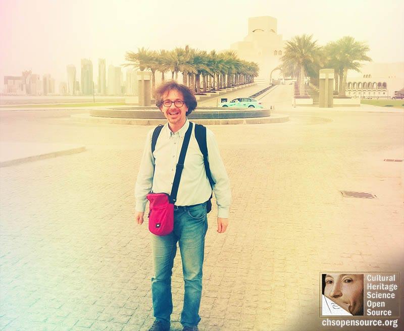 CHSOS training in Qatar museum of islamic art Reflectance spectroscopy for art