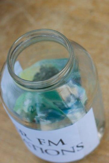 a full donation jar is a happy donation jar