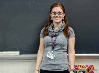 Ms. Ward, one of Centennial's new teachers.