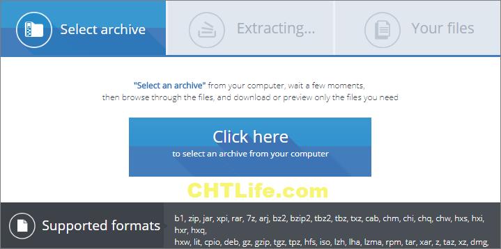 線上免費解壓縮 - 上傳檔案