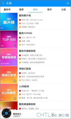 酷狗音樂-app-音樂排行榜