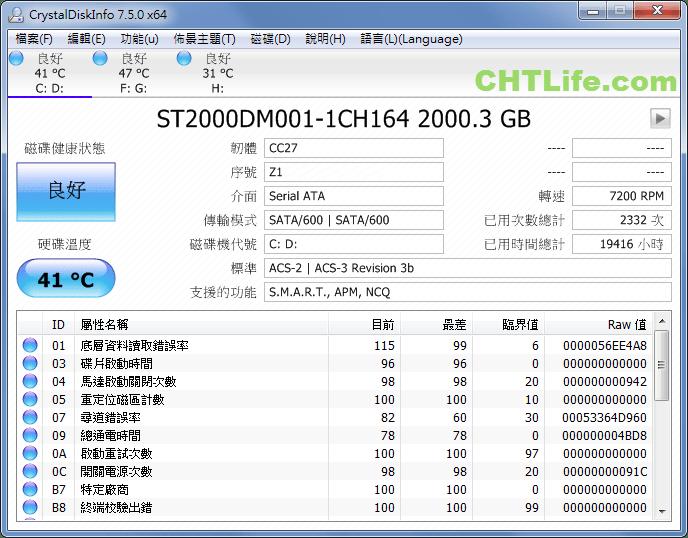 免費硬碟檢測軟體