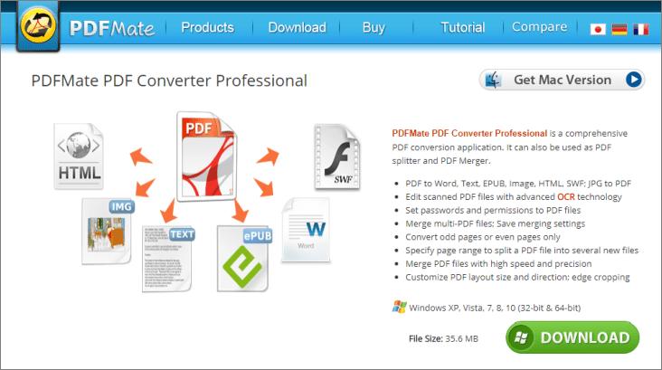 PDFMate PDF Converter 官網