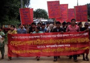 rally in Khagrachari against Semutang
