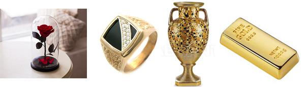 Traditionelle geschenke zur goldenen hochzeit