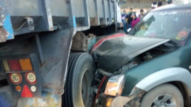 أيت عميرة..تفاصيل اضافية بخصوص حادث اصطدام سيارة بيكوب تقل العاملات الزراعيات بشاحنة