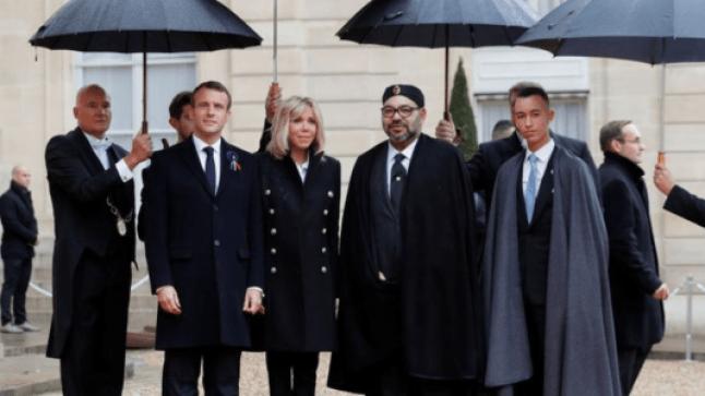 بالصور: الملك محمد السادس يشارك في مائوية انتهاء الحرب العالمية الأولى بفرنسا..