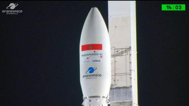 """المغرب يطلق القمر الصناعي """"محمد السادس ب"""" بنجاح من قاعدة كورو بغويانا الفرنسية"""