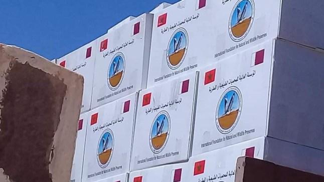 قطر توزع مساعدات رمضانية على محتاجي آسا الزاك..