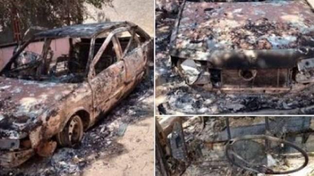 بعد كليميم.. إحراق سيارة حقوقي بسطات ونشطاء يطالبون بالتحقيق!