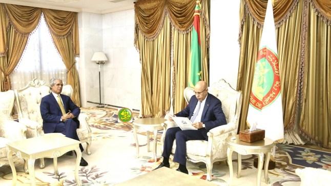 رسميا.. الرئيس الموريتاني يستقبل المبعوث الخاص لجبهة البوليساريو..