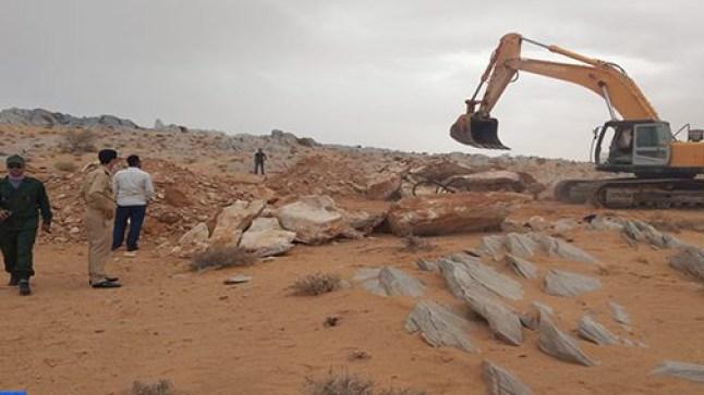 """السمارة. فعاليات مدنية تثمن إيقاف تخريب الموقع الأثري """"لغشيوات"""""""