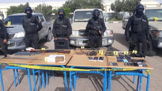 العيون.. توقيف 14 شخصا من بينهم موريتاني وسنغالي وحجز 5,8 أطنان من مخدر الشيرا (المديرية العامة للأمن الوطني)