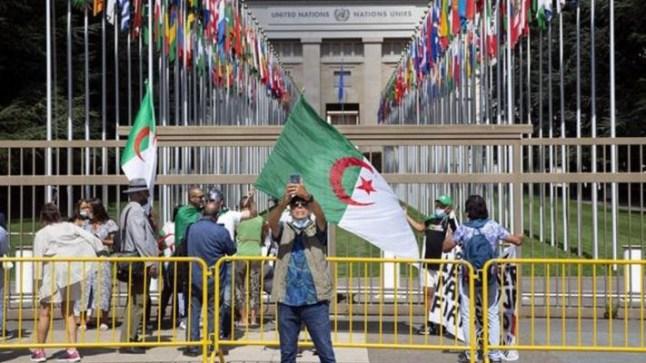 """نشطاء جزائريون يتظاهرون في جنيف ضد """"الاعتقالات التعسفية"""""""