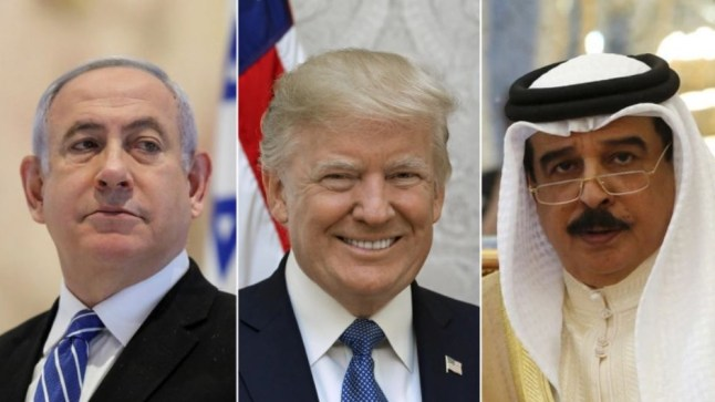 """ترامب يسقط البحرين في فخ التطبيع مع إسرائيل والفلسطينيون ينددون بـ """"الخيانة"""""""