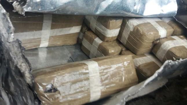 توقيف عشرينيين وحجز طن من الشيرا و160 ألف درهم في عملية ضد شبكة دولية للإتجار في المخدرات قرب الحدود مع الجزائر