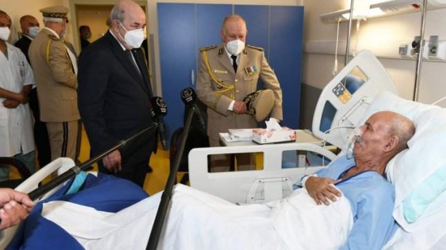 الرئيس الجزائري يزور ابراهيم غالي، و يشكر الإسبان