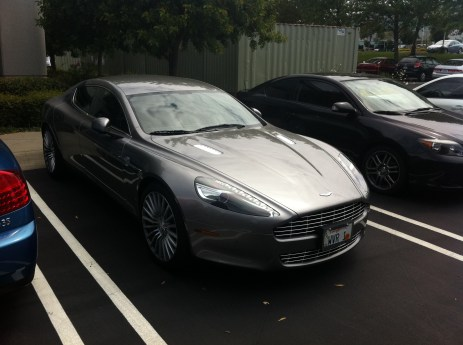Aston Martin Rapide... Right in front of my office