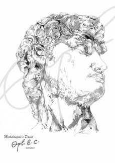 King David through the eyes of Michelangelo Buonarotti
