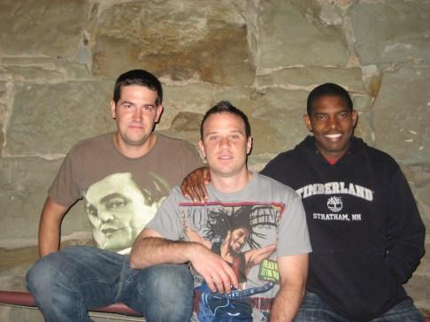 Fun times in Pittsburgh: Dan, JR, Chuba