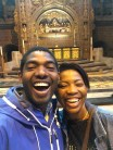 Selfie with my sister Uju in the Liverpool Anglican Cathedral, England (May 2016)