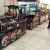 Miniature train for children in the Palms mall in Lekki. Lagos, Nigeria (May 2016)