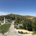 Panoramic shot from the top floor of the Griffith observatory