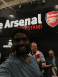 At the arsenal game