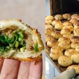 新莊四維市場美食:蟹殼黃蔥酥餅,一顆只要13元,萬大蟹殼黃親戚開的店!滿滿蔥香豬油和芝麻香的蔥酥餅!