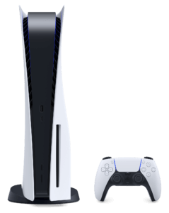 This image has an empty alt attribute; its file name is playstation-5-with-dualsense-front-product-shot-01-ps5-en-30jul20-239x300.png